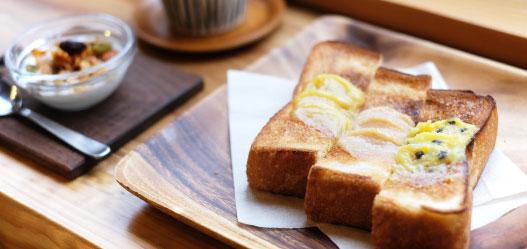 フルーツバタートーストセット