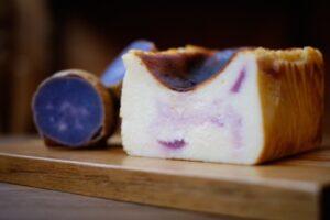 やくしま果鈴blogバスクチーズケーキ ムラサキイモ
